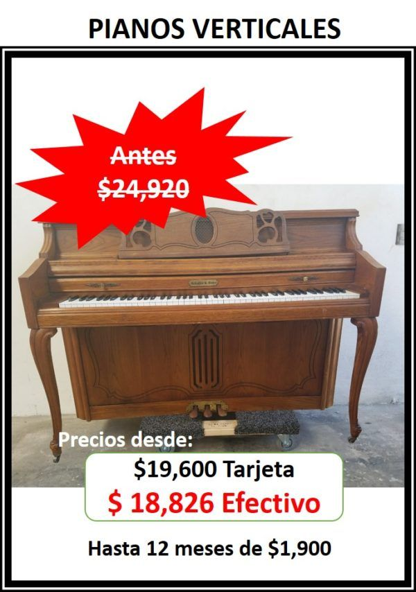 Venta piano vertical espineta console estudio upright
